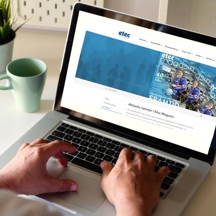 Ny hemsida åt Etec i Oskarshamn